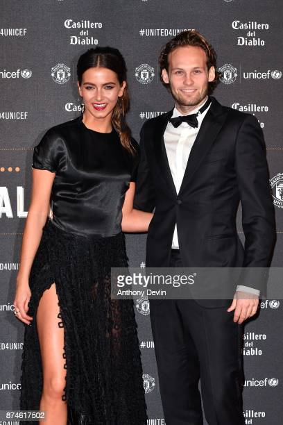 Daley Blind and CarlyRae Fleur attend the United for Unicef Gala Dinner at Old Trafford on November 15 2017 in Manchester England