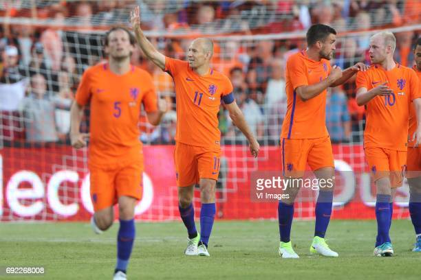 Daley Blind of Holland Arjen Robben of Holland Kevin Strootman of Holland Davy Klaassen of Hollandduring the friendly match between The Netherlands...