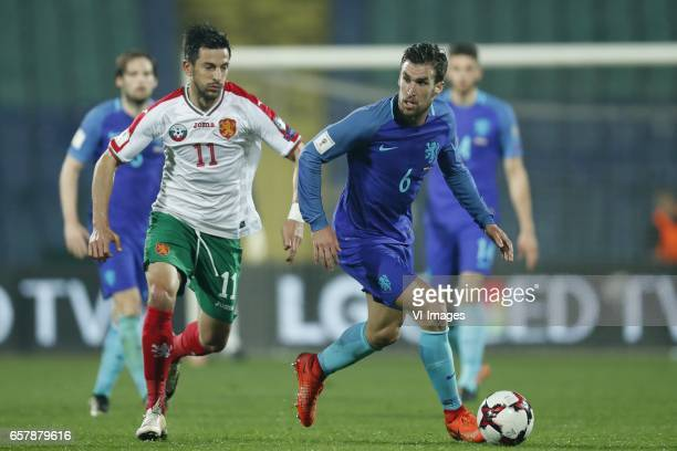 Daley Blind of Holland Stanislav Manolev of Bulgaria Kevin Strootman of Holland Wesley Hoedt of Hollandduring the FIFA World Cup 2018 qualifying...