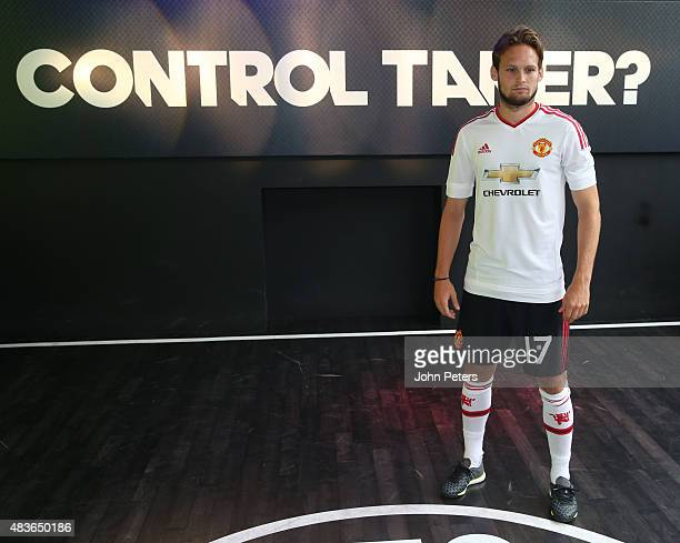Daley Blind of Manchester United attends the global launch of the 201516 Manchester United away kit on August 11 2015 in London England