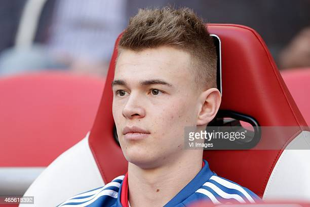Daley Sinkgraven of Ajax during the Dutch Eredivisie match between Ajax Amsterdam and Excelsior Rotterdam at the Amsterdam Arena on March 8 2015 in...