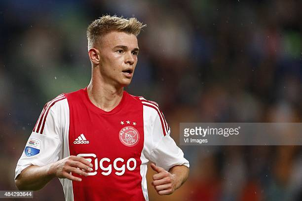 Daley Sinkgraven of Ajax during the Dutch Eredivisie match between Ajax Amsterdam and Willem II Tilburg at the Amsterdam Arena on August 15 2015 in...