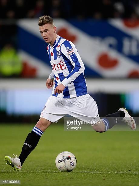 Daley Slinkgraven of sc Heerenveen during the Dutch Eredivisie match between SC Heerenveen and Vitesse at the Abe Lenstra stadium on january 20 2015...