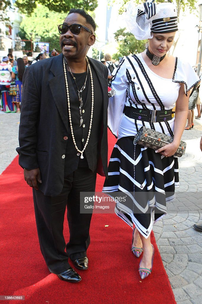 Dali Tambo and his wife Rachel Tambo arrive at the State of the Nation Address at the opening of Parliament in Cape Town, South Africa on 9 February 2012. Parliament was opened in the annual ceremony where President Jacob Zuma delivered his state of the nation address.