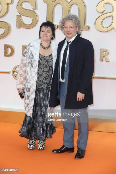 Dalia Ibelhauptaite and actor Dexter Fletcher attend the 'Kingsman The Golden Circle' World Premiere held at Odeon Leicester Square on September 18...