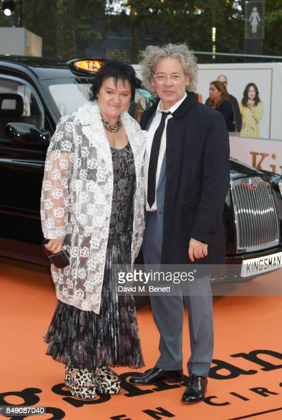 Dalia Ibelhauptaite and Dexter Fletcher attend the World Premiere of 'Kingsman The Golden Circle' at Odeon Leicester Square on September 18 2017 in...