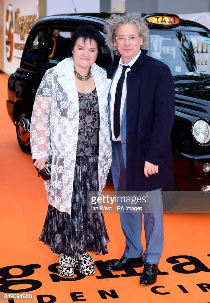 Dalia Ibelhauptaite and Dexter Fletcher attending the World Premiere of Kingsman The Golden Circle at Cineworld in Leicester Square London Picture...