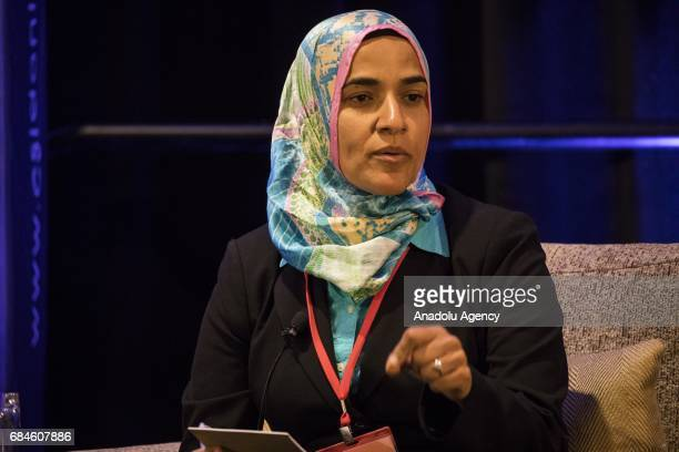 Dalia Mogahed Director of Research at the Institute for Social Policy and Understanding speaks during an event called 'The Trump Administration and...