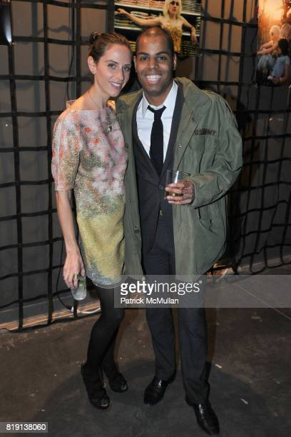 Dalia Oberlander and Moises de la Renta attend THE RUNAWAYS A Gallery Event with FLORIA SIGISMONDI to Benefit STAND UP FOR KIDS at Good Units on...