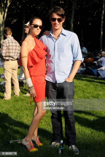 Dalia Oberlander and Nick Brown attend The WATERMILL CONCERT 2010 'Last Song Of Summer' at The Watermill Center on August 28 2010 in Watermill NY