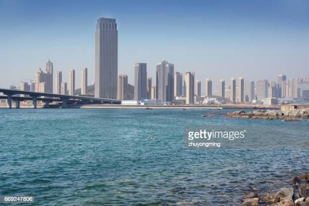 Dalian High-tech zone urban skyline