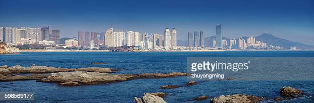 Dalian Xinghai bay skyline