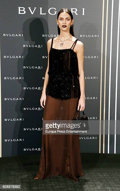 Dalianah Arekion attends the opening of the exhibition 'Bulgari and Roma' at Italian Embassy on November 28 2016 in Madrid Spain