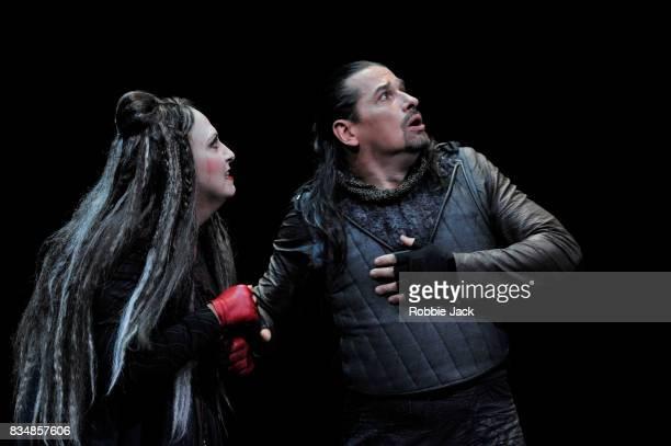 Dalibor Jenis as Macbeth and Anna Pirozzi as Lady Macbeth in Teatro Regio Torino's production of Giuseppe Verdi's Macbeth at the Edinburgh...