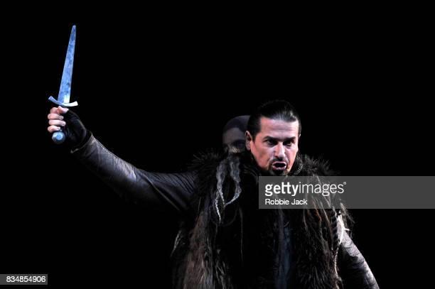 Dalibor Jenis as Macbeth in Teatro Regio Torino's production of Giuseppe Verdi's Macbeth at the Edinburgh International Festival at Festival Theatre...