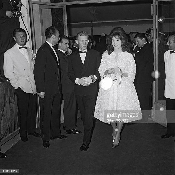 Dalida and husband Lucien Morisse at Cannes Film Festival in 1961 in Cannes France