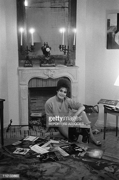 Dalida at home in Paris France in December1961