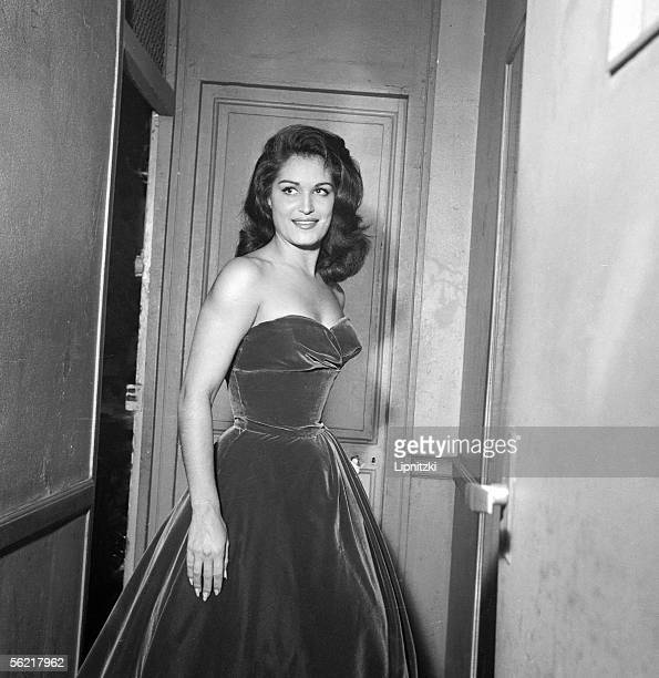 Dalida French singer of Egyptian origin at Bobino Paris October 1958
