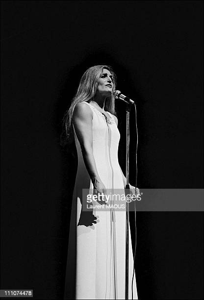 Dalida in Paris France on January 15th 1974