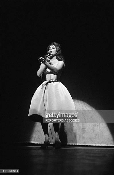 Dalida on stage at the Olympia in Paris France in December 1961