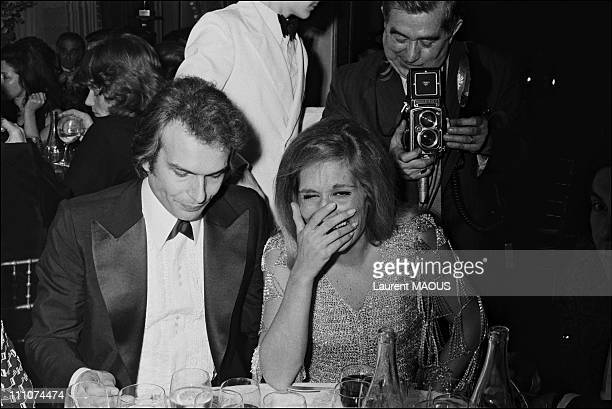 Dalida with the Count of St Germain in Paris France on January 15th 1974