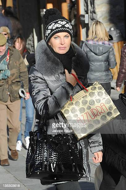 Dalila Di Lazzaro is seen on December 8 2011 in Courmayeur Italy