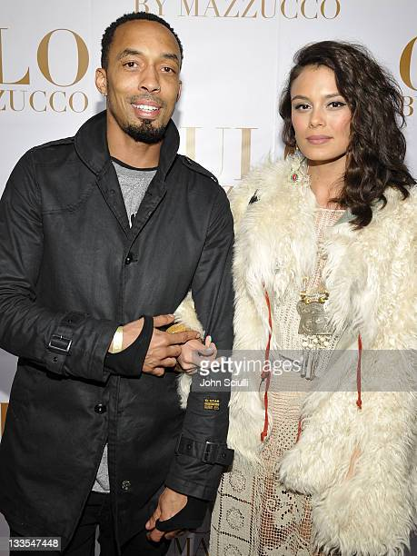 Dallas Austin and Nathalie Kelley arrive at the International Launch of CULO by Mazzucco at Sunset Marquis Hotel Villas on November 19 2011 in West...