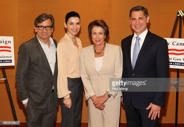 'Dallas Buyers Club' actor Griffin Dunne 'Good Wife' actress Julianna Margulies Minority Leader Rep Nancy Pelosi and Dan Gross President Brady...