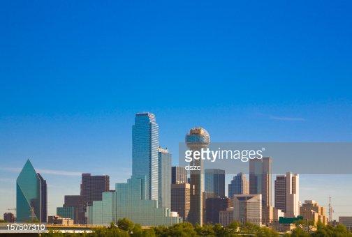 Dallas city skyline panorama cityscape, Texas