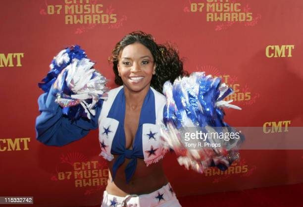 Dallas Cowboys Cheerleader during 2007 CMT Music Awards Arrivals at The Curb Event Center at Belmont University in Nashville Tennessee United States