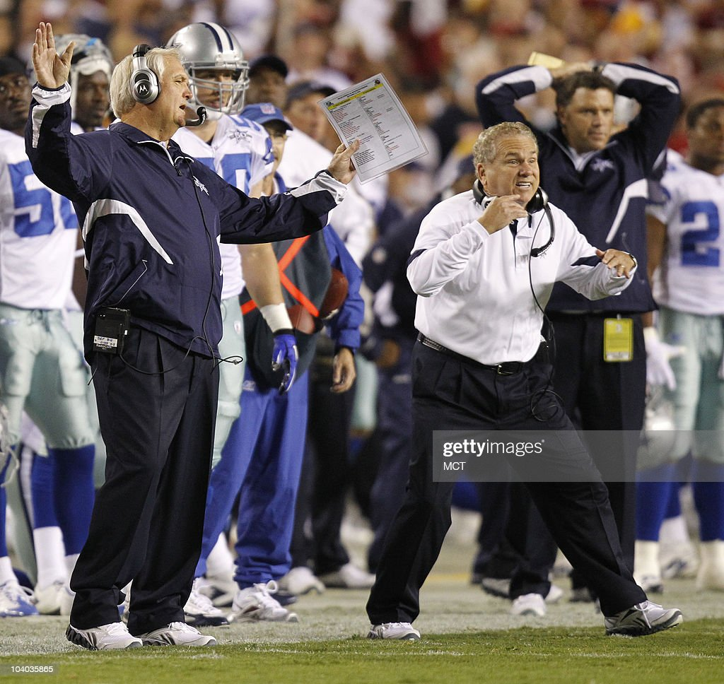 Coach Larry Wade Sweater: Dallas Cowboys V Washington Redskins