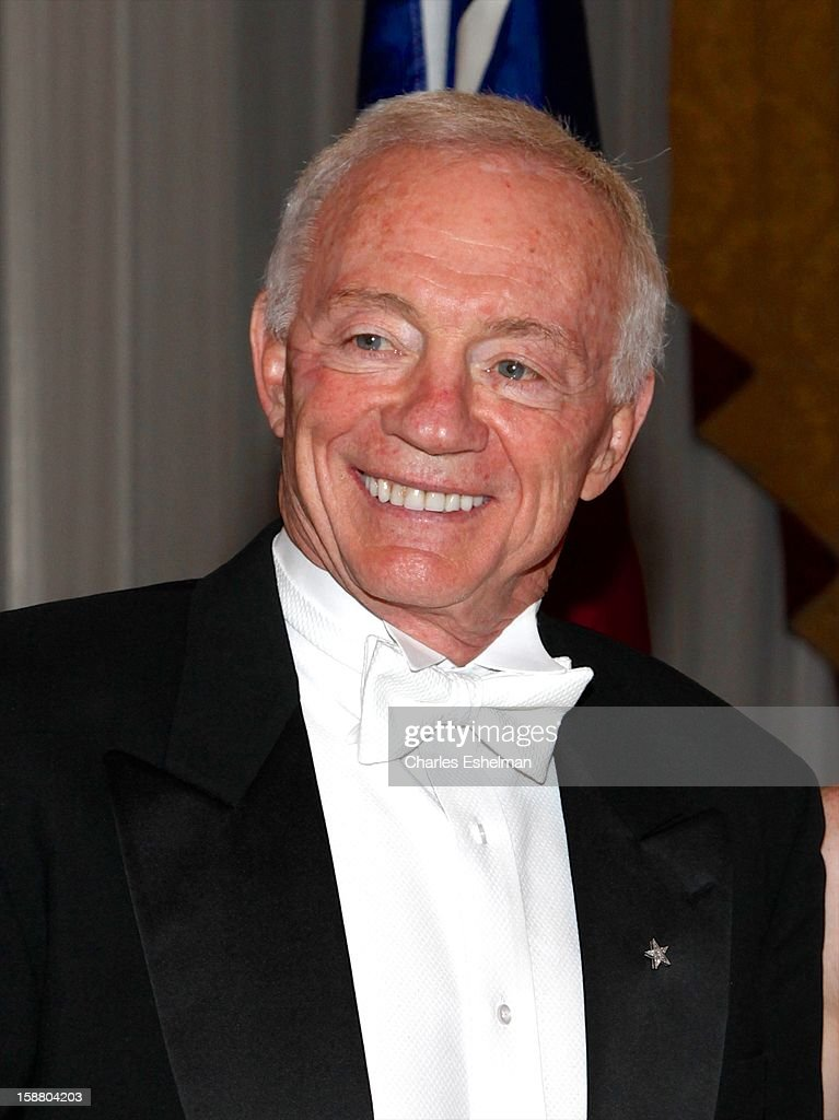 Dallas Cowboys owner <a gi-track='captionPersonalityLinkClicked' href=/galleries/search?phrase=Jerry+Jones+-+American+Football+Team+Owner&family=editorial&specificpeople=11445386 ng-click='$event.stopPropagation()'>Jerry Jones</a> attends the 58th International Debutante Ball at The Waldorf-Astoriaon December 29, 2012 in New York City.