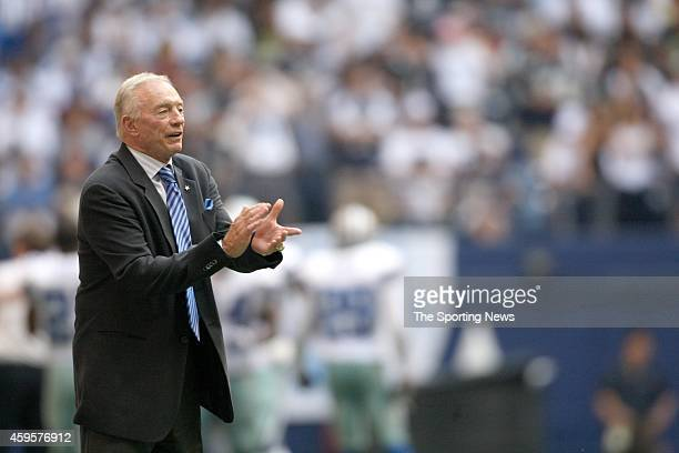 Dallas Cowboys owner Jerry Jones reacts from the sideline during a game against the Cincinnati Bengals on October 5 2008 at Texas Stadium in Irving...
