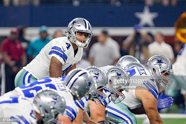 Dallas Cowboys Quarterback Dak Prescott [20763] during the NFL game between the Dallas Cowboys and the Chicago Bears at ATT Stadium in Arlington TX