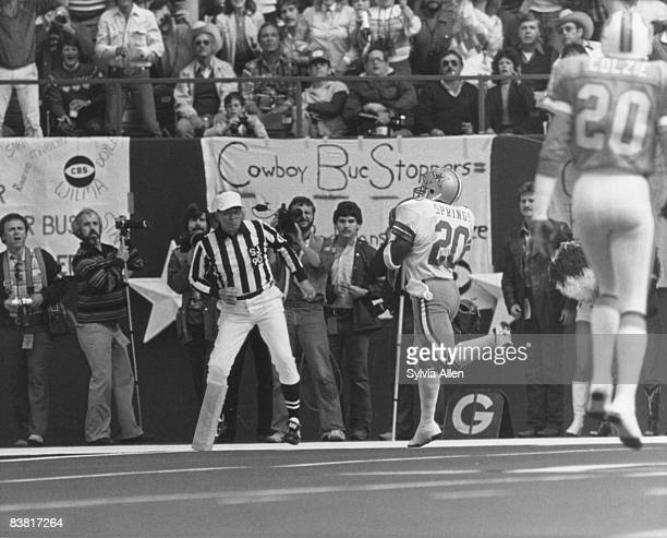 Dallas Cowboys running back Ron Springs scores on a 6yard touchdown reception during the Cowboys 3017 victory over the Tampa Bay Buccaneers in the...