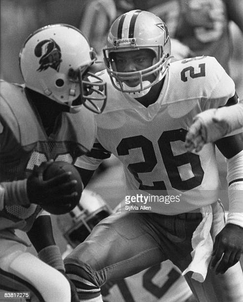 Dallas Cowboys safety Michael Downs in action during the Cowboys 3017 victory over the Tampa Bay Buccaneers in the 1982 NFC FirstRound Playoff Game...