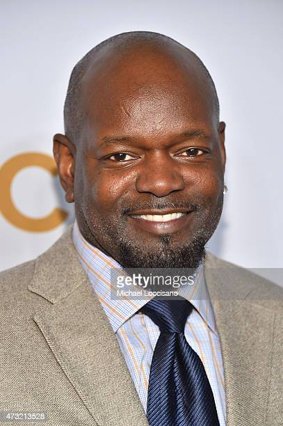 Dallas Cowboys Super Bowl XXVIII MVP Emmitt Smith attends the 2015 CBS Upfront at The Tent at Lincoln Center on May 13 2015 in New York City