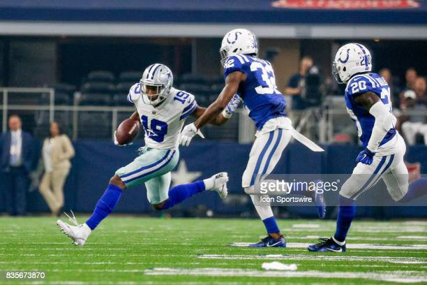Dallas Cowboys wide receiver Brice Butler runs after a catch during the NFL preseason game between the Indianapolis Colts and Dallas Cowboys at ATT...