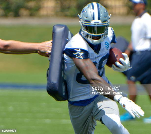 Dallas Cowboys wide receiver Dez Bryant runs a drill during the team's OTA at Ford Center at The Star in Frisco Texas on May 31 2017
