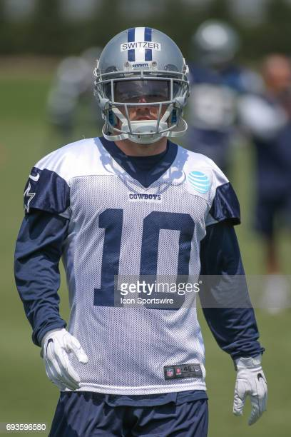 Dallas Cowboys wide receiver Ryan Switzer runs drills during the Dallas Cowboys OTA practice on June 7 2017 at The Star in Frisco Texas