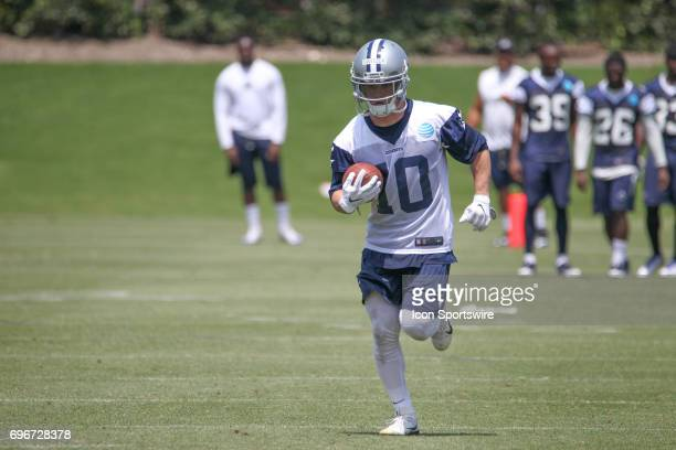 Dallas Cowboys Wide Receiver Ryan Switzer runs drills during the Dallas Cowboys Minicamp on June 15 2017 at The Star in Frisco Texas