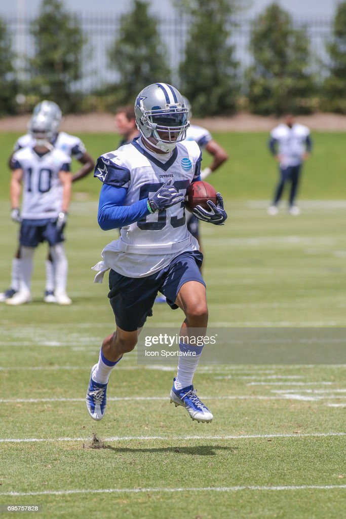 Dallas Cowboys Wide Receiver Terrance Williams (83) runs drills during the Dallas Cowboys Minicamp on June 13, 2017, at The Star in Frisco, Texas.