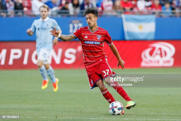 Dallas forward Maximiliano Urruti during the MLS match between Sporting KC and FC Dallas on April 22 2017 at Toyota Stadium in Frisco TX FC Dallas...