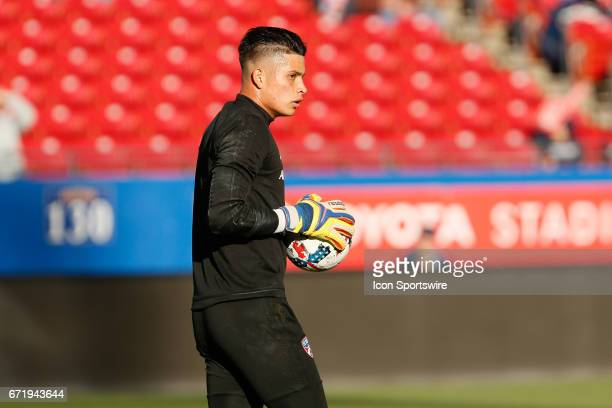 Dallas goalkeeper Jesse Gonzalez prior to the MLS match between Sporting KC and FC Dallas on April 22 2017 at Toyota Stadium in Frisco TX FC Dallas...