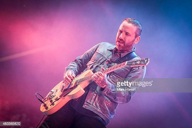 Dallas Green of Alexisonfire performs on Day 1 of the Heavy Montreal Festival at Parc JeanDrapeau on August 7 2015 in Montreal Canada