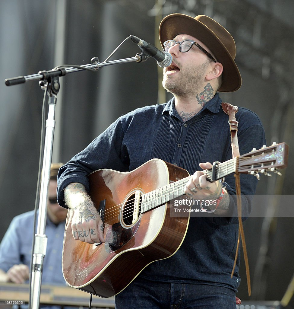 Dallas Green of City and Colour peforms during the Sasquatch! Music Festival at the Gorge Amphitheatre on May 24, 2014 in George, Washington.