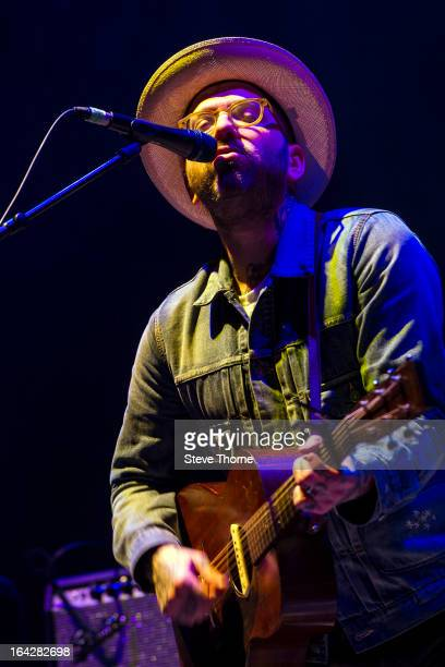 Dallas Green of City and Colour performs on stage at LG Arena on March 21 2013 in Birmingham England