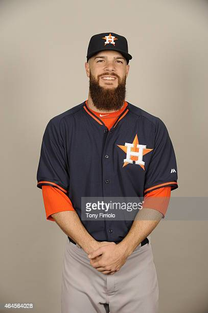 Dallas Keuchel of the Houston Astros poses during Photo Day on Thursday February 26 2015 at Osceola County Stadium at Osceola Heritage Park in...