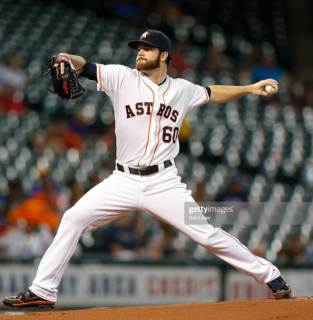 Dallas Keuchel #60 of the Houston Astros throws in the first inning against the Tampa Bay Rays at Minute Maid Park on July 1, 2013 in Houston, Texas.