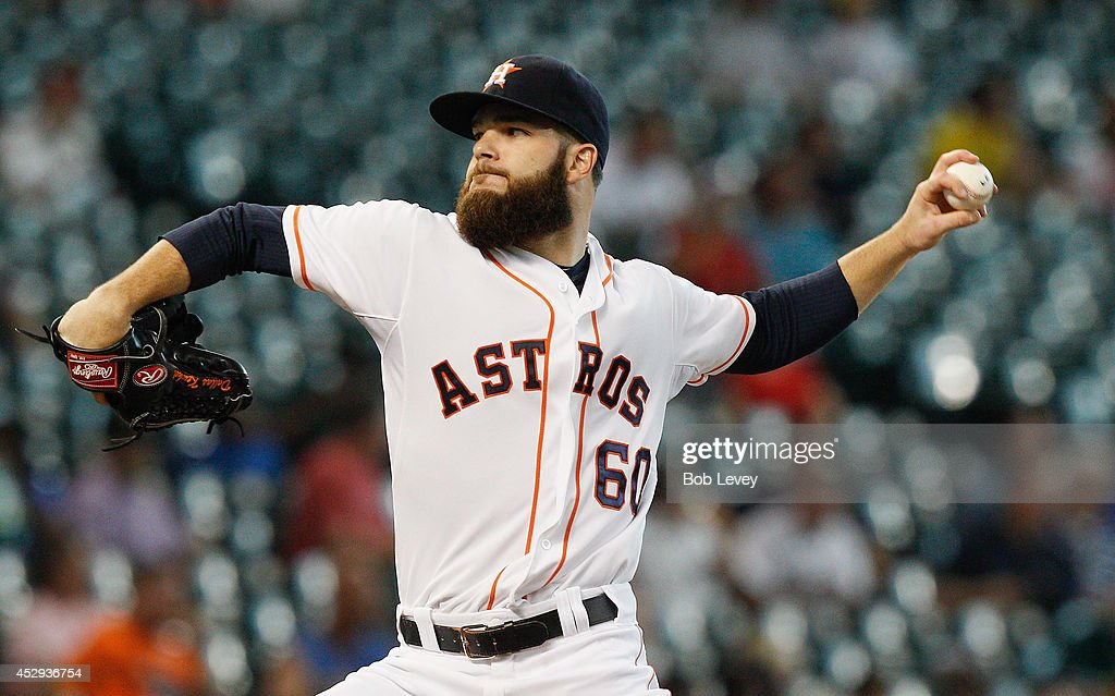 <a gi-track='captionPersonalityLinkClicked' href=/galleries/search?phrase=Dallas+Keuchel&family=editorial&specificpeople=5928400 ng-click='$event.stopPropagation()'>Dallas Keuchel</a> #60 of the Houston Astros throws in the first inning against the Oakland Athletics at Minute Maid Park on July 30, 2014 in Houston, Texas.